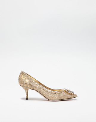 Dolce & Gabbana Pump In Taormina Lurex Lace With Crystals