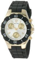 Vernier Women's VNR6053BK Round Silicon Strap Quartz Watch