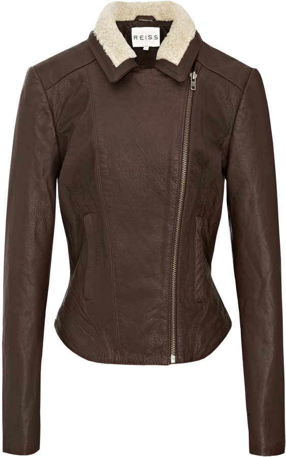 Reiss Evy FORTIES LEATHER JACKET