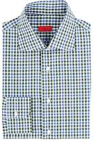 Isaia MEN'S PLAID COTTON DRESS SHIRT