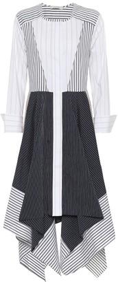 Schumacher Dorothee Patchwork striped cotton-blend dress