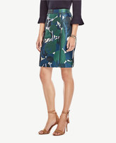 Ann Taylor Petite Forest Bloom Pencil Skirt