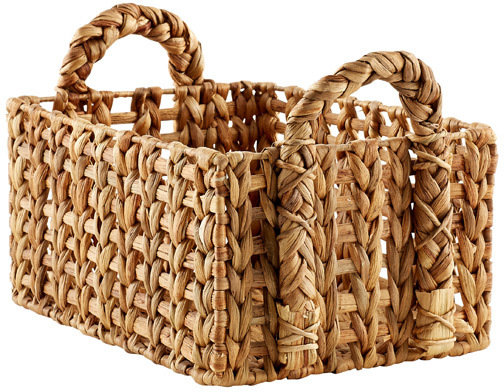 Container Store Medium Open-Weave Water Hyacinth Bin Natural