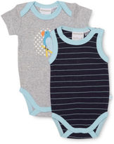 Marquise NEW Parrot 2pk Bodysuits Grey