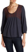 Susina Embroidered Yoke Blouse