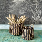 Graham and Green Set Of Two Arrow Weave Baskets