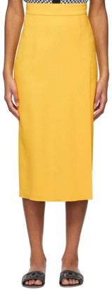 Dolce & Gabbana Yellow Cady Skirt