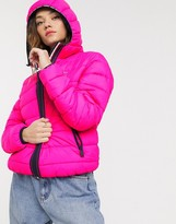 Tommy Jeans quilt detail padded jacket
