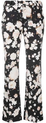 Boutique Moschino Flared Floral Print Trousers