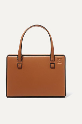 Loewe Postal Small Leather Tote - Tan