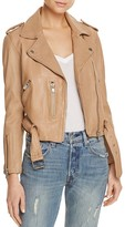 Linea Pelle Washed Leather Moto Jacket
