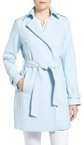 T Tahari Women's Crepe Trench Coat
