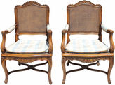One Kings Lane Vintage Silver Craft French-Style Chairs, Pair