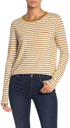 Madewell Striped Long Sleeve Pocket T-Shirt (Regular & Plus Size)