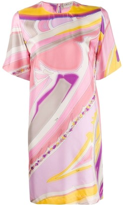 Emilio Pucci abstract print silk T-shirt dress