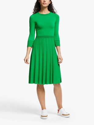 Boden Lorna Knitted Midi Dress, Rich Emerald