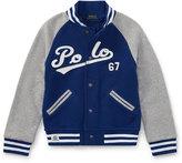 Ralph Lauren Lightweight Terry Baseball Jacket, Size 5-7