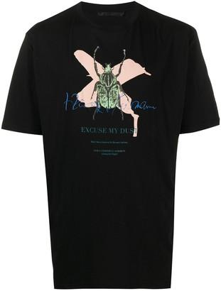 Haider Ackermann bug cross print T-shirt