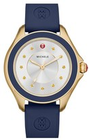 Michele Women's 'Cape' Topaz Dial Silicone Strap Watch, 40Mm
