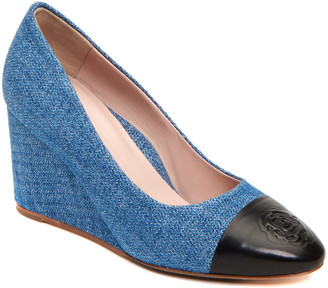 Taryn Rose Isabella Denim Wedge