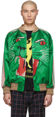 Gucci Green Panther Bomber Jacket