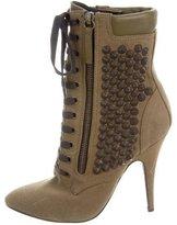 Giuseppe Zanotti x Balmain Lace-Up Studded Ankle Boots