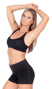 Instaslim InstantFigure Women's Compression Racer Back Crop Top Bra
