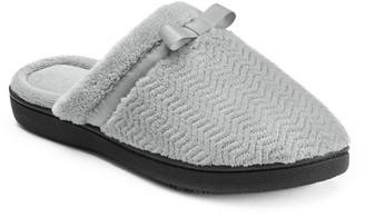 Isotoner Women's Chevron Clog Slippers