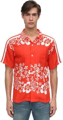Hawaiian Print Rayon Bowling Shirt