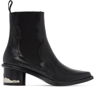 Toga Pulla Black Leather Chelsea Boots