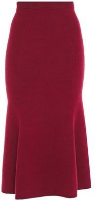 Victoria Beckham Fluted Knitted Midi Skirt