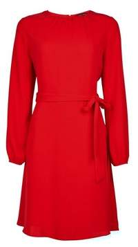 Dorothy Perkins Womens Red Pleat Neck Dress, Red