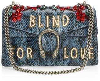 Gucci Dionysus Blind For Love Embroidered Snakeskin Shoulder Bag