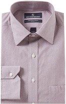Hart Schaffner Marx Non-Iron Classic-Fit Spread Collar Stripe Dress Shirt
