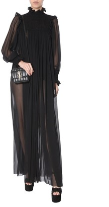 Saint Laurent Sheer Paneled Maxi Dress