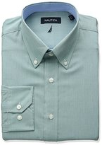 Nautica Men's Chambray Buttondown Collar Dress Shirt