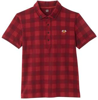 La Redoute Collections Short-Sleeved Checked Polo Shirt