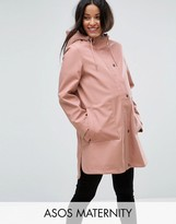Asos Premium Rain Coat With Borg Lining