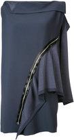 Issey Miyake flat combination zip dress