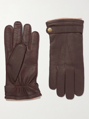 Dents Gloucester Cashmere-Lined Leather Gloves - Men - Brown