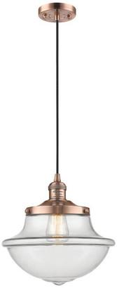 "Innovations Lighting 1 Light Vintage Dimmable LED Oxford School House 12"" Pendant"