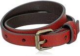 Frye Unisex Tumbled Full Grain Leather Wrap Cuff Bracelet