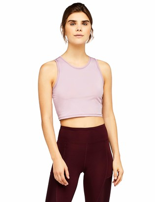 Aurique Amazon Brand Women's Sleeveless Cropped Sports Tank Top