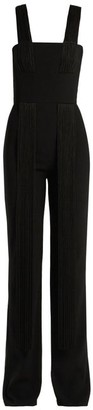 Galvan Cortado Wide-leg Fringed Jumpsuit - Black