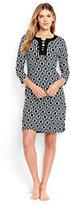 Classic Women's Petite Lace Up Swim Cover-up Dress-Black Geo Max Link