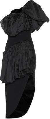 Maticevski Attentive Ruffle crepe midi dress