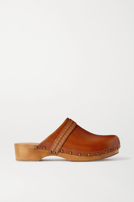 Isabel Marant Thalie Studded Leather Clogs - Tan