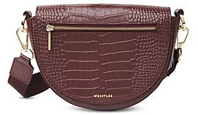 Whistles Monty Half-Moon Leather Crossbody Bag