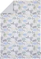 DwellStudio Dwell Studio Caravan Animal Print Comforter, Aqua/Gray/Green/Yellow