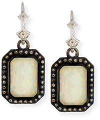 Armenta New World Opal & Ice Triplet Earrings with Diamonds